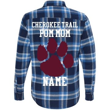 CT POM MOM FLANNEL
