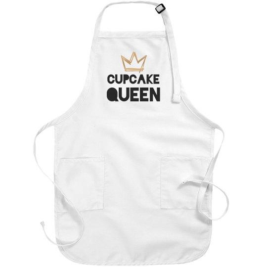 Cupcake Queen Metallic Apron