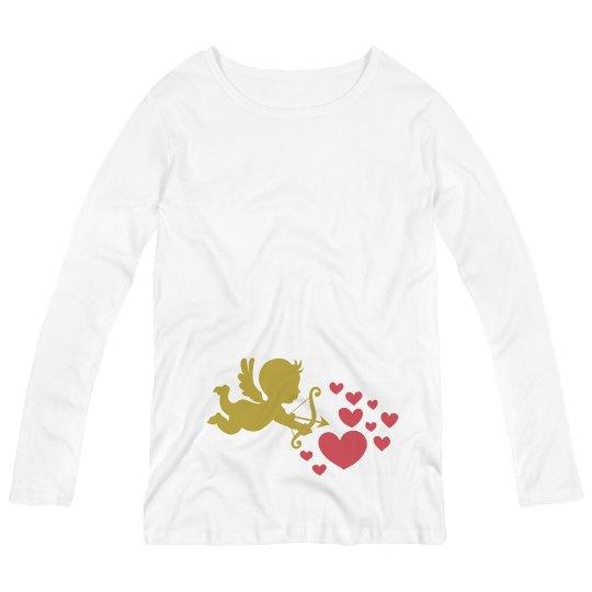 Cupid Maternity Long Sleeve Tee