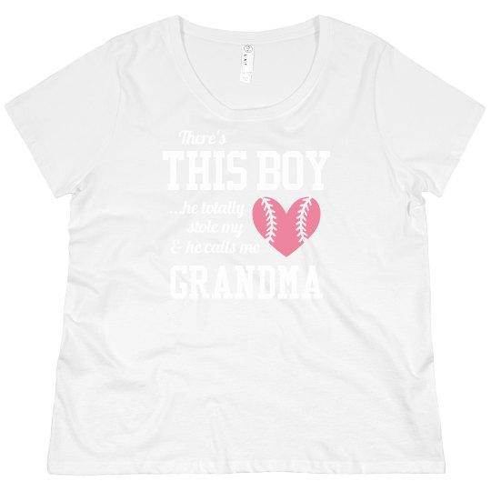 Curvy Baseball Grandma Tee