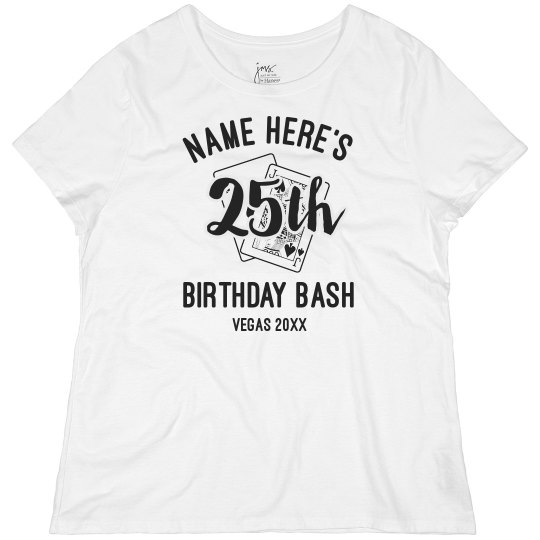 Custom 25 Birthday In Las Vegas