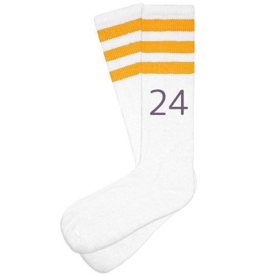 Custom 3-Stripe Knee Highs