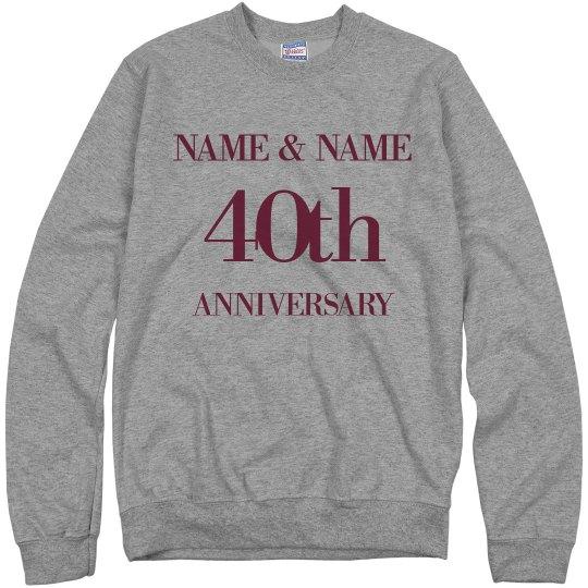 Custom 40th Wedding Anniversary