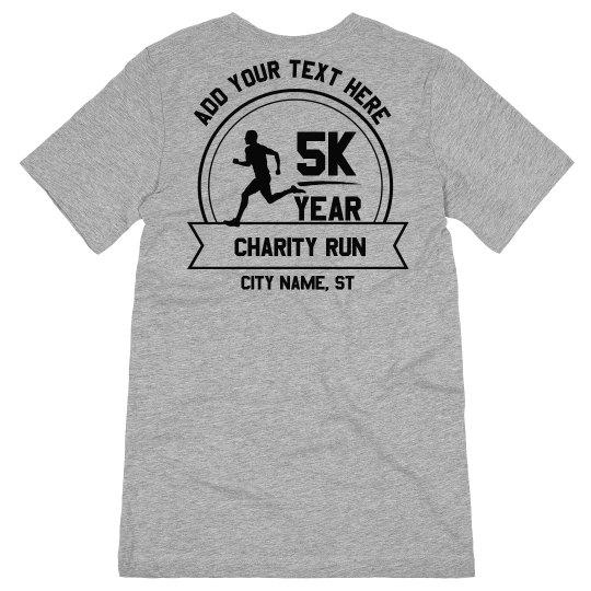 Custom 5K Charity Run Tee