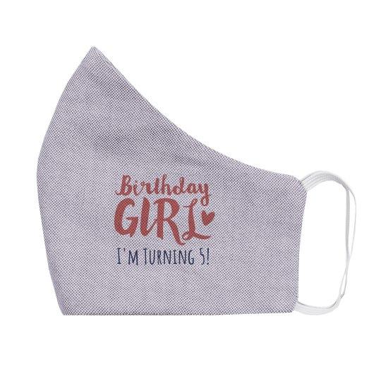 Custom Age Birthday Girl Mask