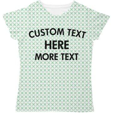 Custom All Over Print X Pattern