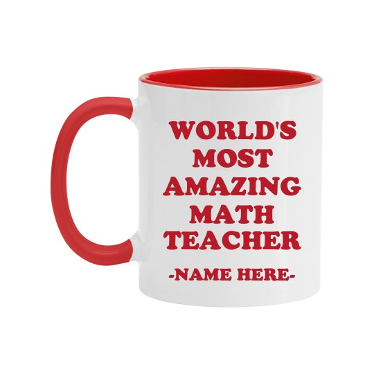Custom Amazing Math Teacher