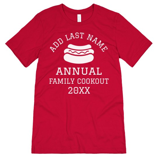 Custom Annual Family Cookout Tee