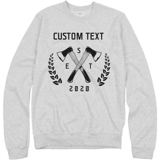 Custom Axe Throwing Sweatshirts