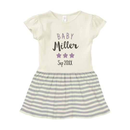 Custom Baby Family Fame Stars Dress