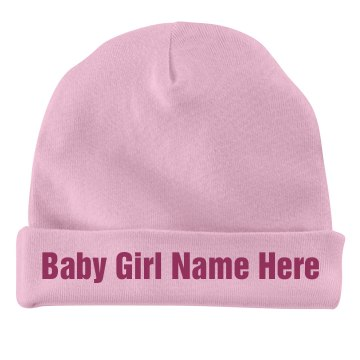 Custom Baby Girl Cap