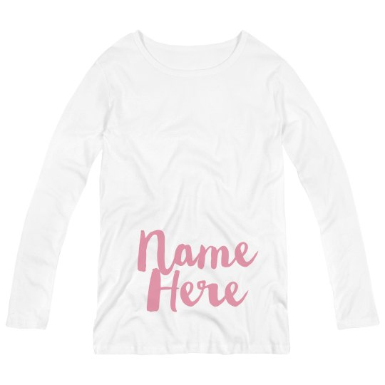 Custom Baby Name Pregnancy Announce