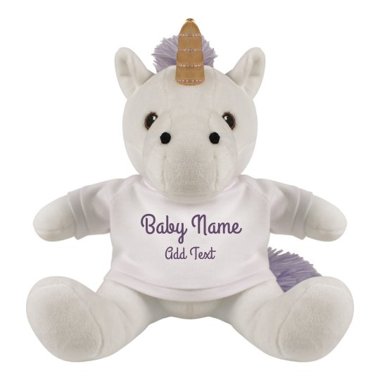Custom Baby Unicorn Plush