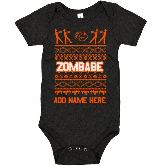 Custom Baby Zombie Ugly Sweater