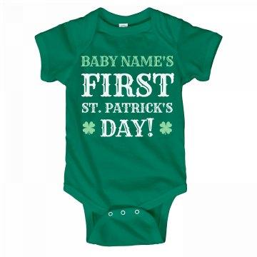 Custom Babys 1st St Patty's Day