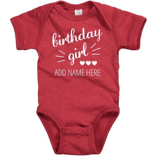 Custom Baby's Birthday Design
