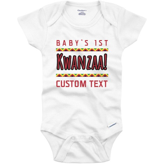 Custom Baby's First Kwanzaa Onesie