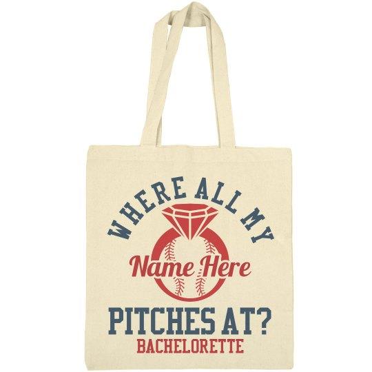 Custom Baseball Bachelorette Party Bag