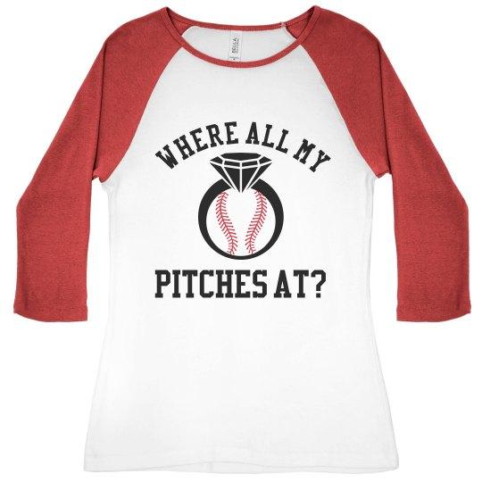 Custom Baseball Bachelorette Party Bridesmaid
