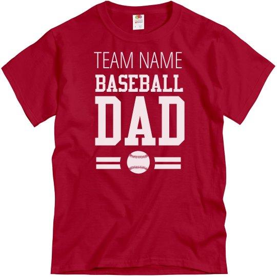 Custom Baseball Fan Dad