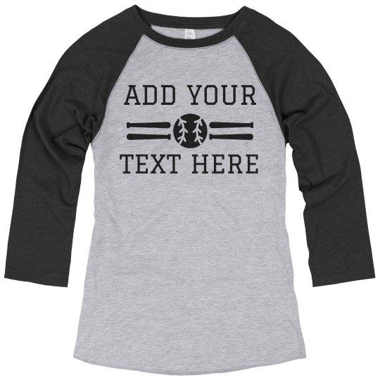 Custom Baseball Fan Shirt Add Text