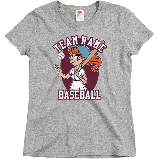 Custom Baseball Girl