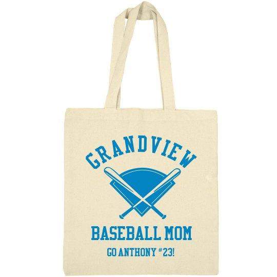 Custom Baseball Mom Bag