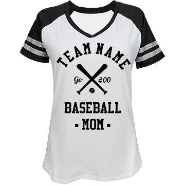 Custom baseball mom fan for Custom baseball tee shirts