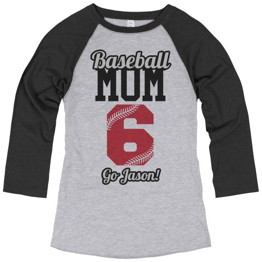 Custom Baseball Mom Jerseys With Name and Number