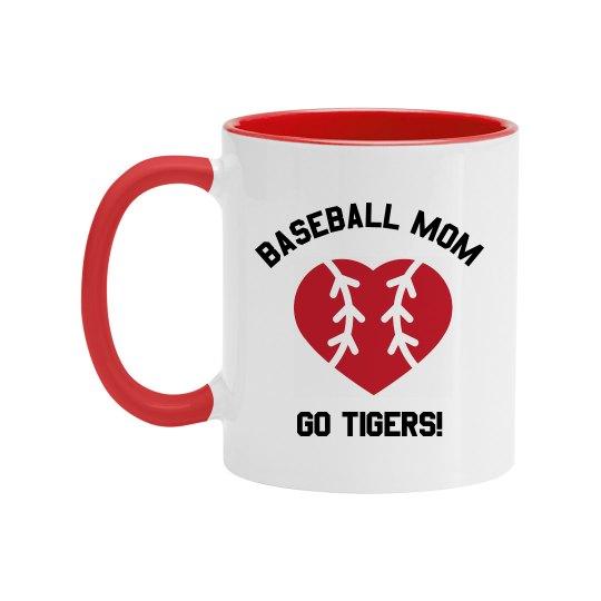 Custom Baseball Mom Mug