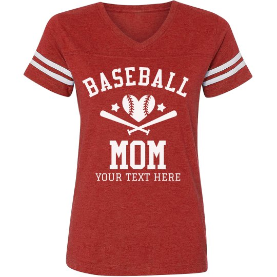 Custom Baseball Mom Vintage Tee