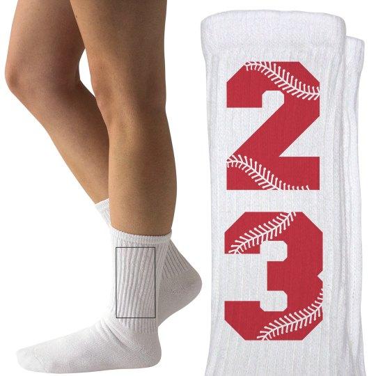 Custom Baseball of Softball Fan Socks