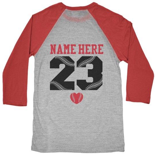 Custom Baseball or Softball Mom Jersey Shirts