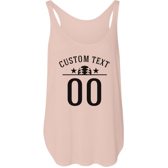 Custom Baseball Text Girlfriend Tank