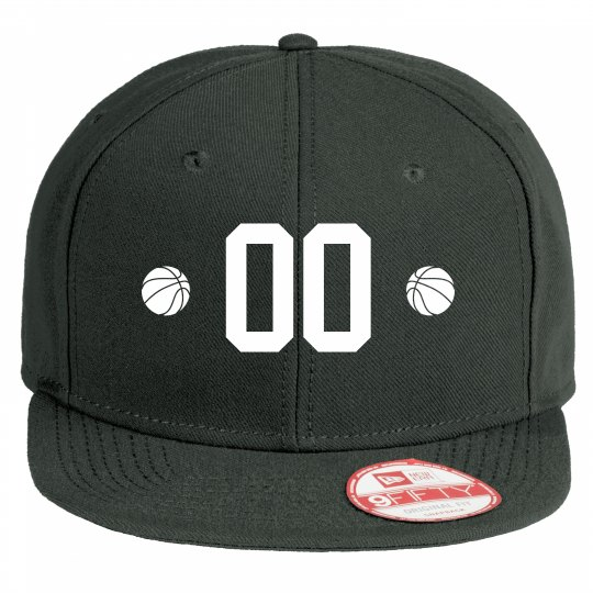 Custom Basketball Number Flat Bill Hat