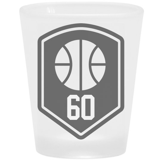 Custom Basketball Number Shot Glass