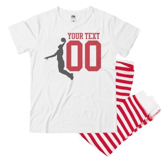 Custom Basketball Player Number Pajamas