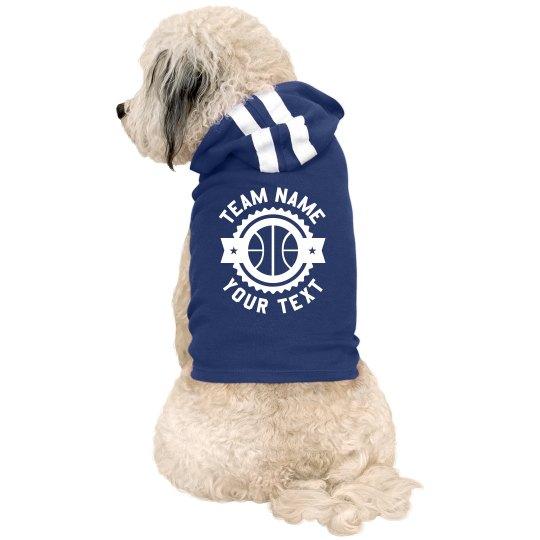 Custom Basketball Team Pet Hoodie