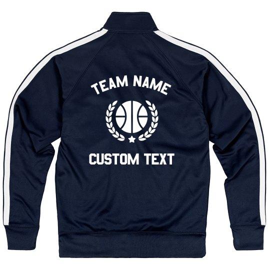 Custom Basketball Team Sporty Zip Jacket