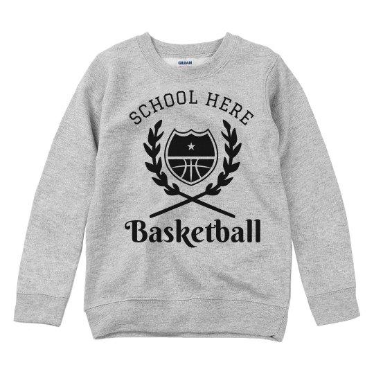 Custom Basketball Youth Kids Sweatshirt