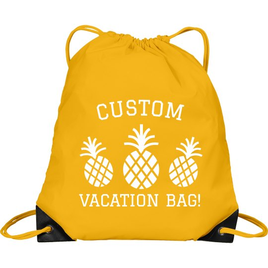 Custom Beach Vacation Bag