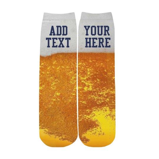 Custom Beer Father's Day Socks