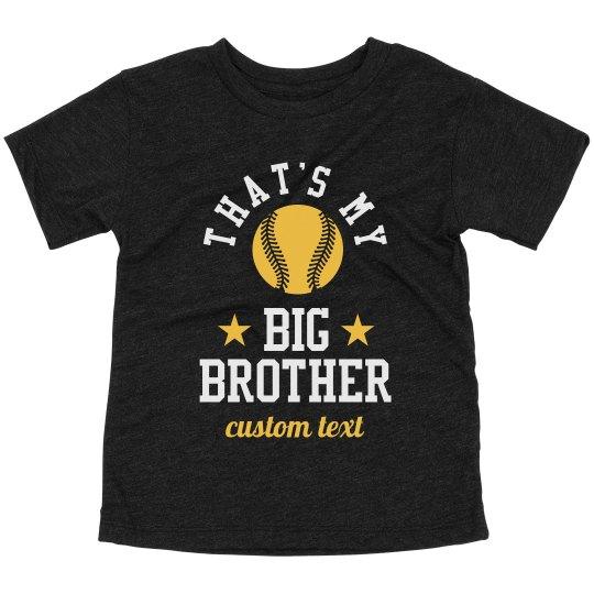 Custom Big Brother Baseball Top