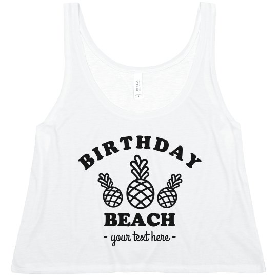 Custom Birthday Beach
