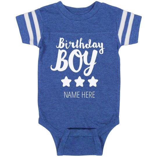 Custom Birthday Boy Bodysuit