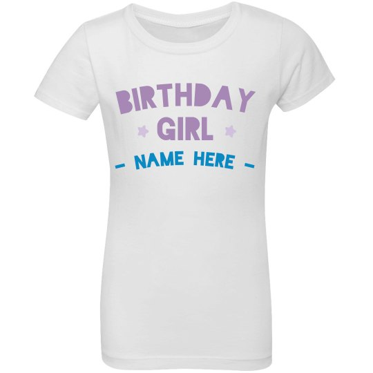 Custom Birthday Girl Tee