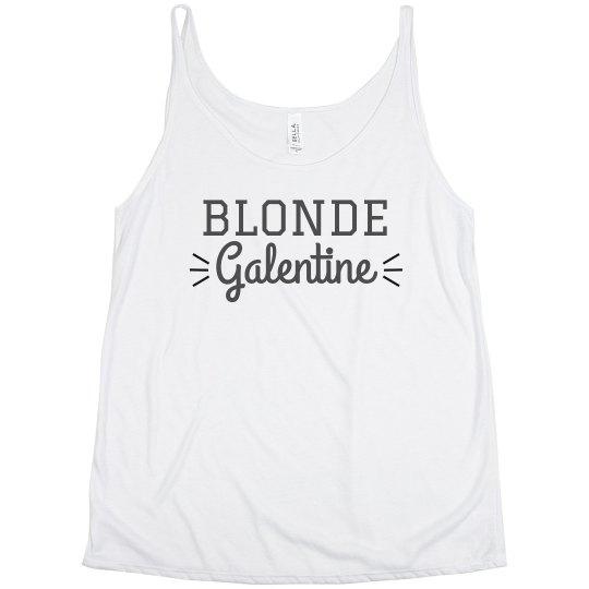 Custom Blonde Galentine Best Friend Tanks