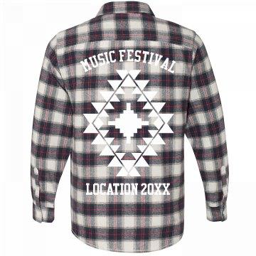 Custom Boho Music Festival Flannel