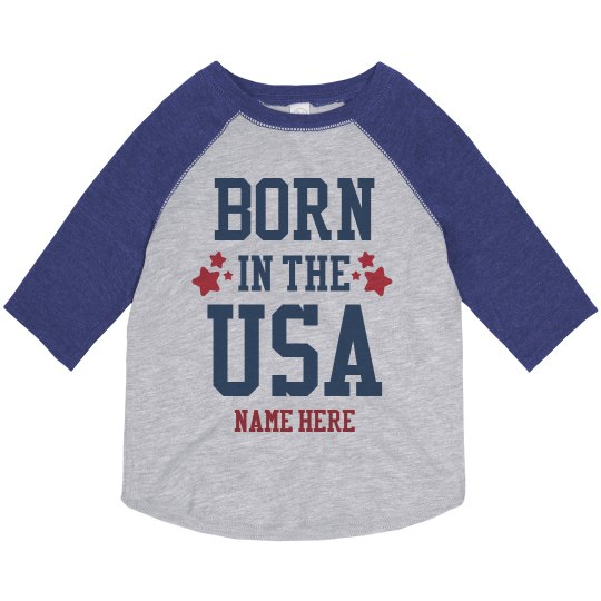 Custom Born in the USA Raglan