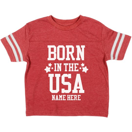 Custom Born in the USA Toddler
